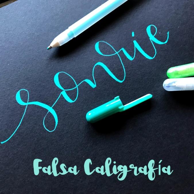falsa caligrafía